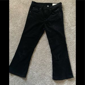 Rag and Bone Cropped Flaired Velvet Pants_Sz 25